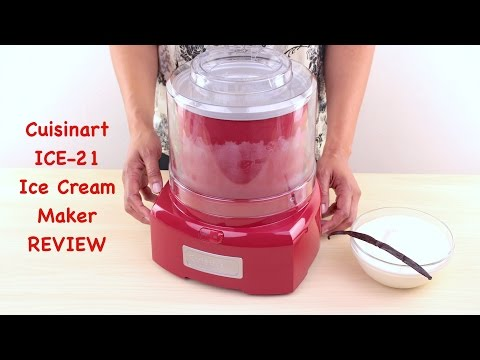 , Ice Cream Maker- Also Makes Sorbet, Frozen Yogurt Dessert, 1 Quart Capacity Machine with Included Easy To Make Recipes by Classic Cuisine – White