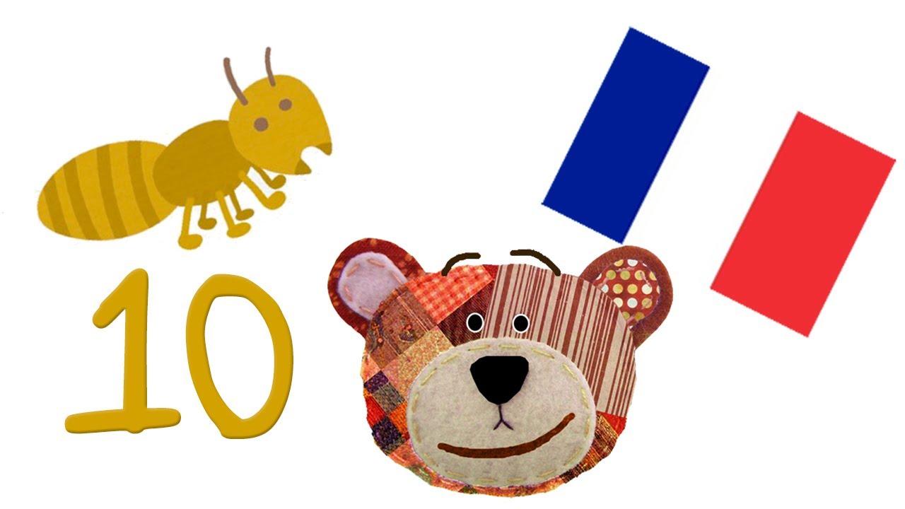 Aprende los números con insectos - Francés para niños