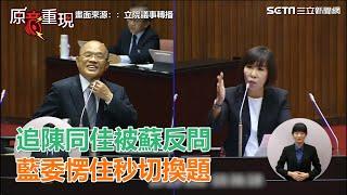 追陳同佳被蘇反問 藍委愣住秒切換題|三立新聞網SETN.com