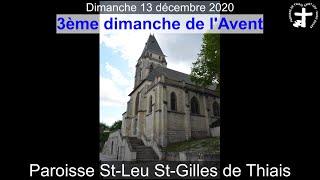 2020-12-13 – Messe du 3ème dimanche de l'Avent