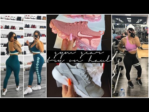NEW GYM GEAR + SNEAKER TRY ON HAUL | SayehSharelo