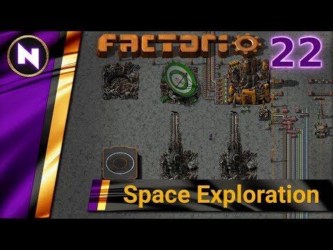 Factorio 0.17 Space Exploration #22 FIRST ROBOTS