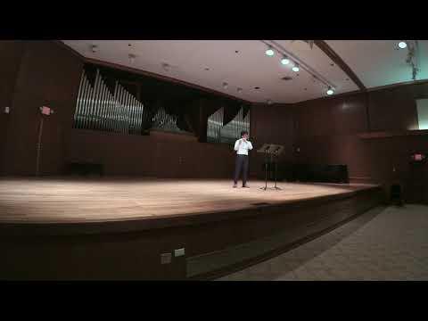 Air for solo flute, Toru Takemitsu. November 20th, 2019