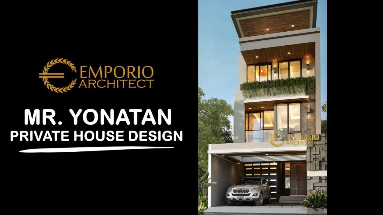 Video 3D Mr. Yonatan Modern House 3 Floors Design - Jakarta