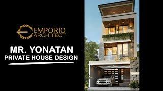 Video Desain Rumah Modern 3 Lantai Bapak Yonatan di  Jakarta