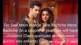 Jaaneman Aah- Song Lyrics (Traduction en Français+English