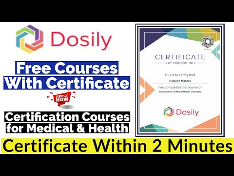 Free Courses With Certificate | Medical and Health Courses ...