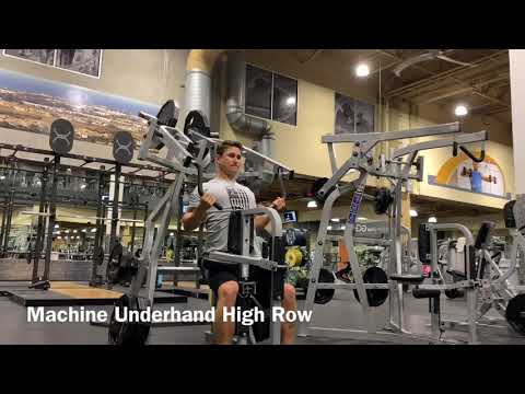 Machine Underhand High Row