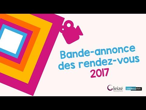 Bande annonce des rendez-vous 2017