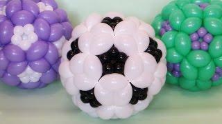 Футбольный мяч из шаров / Soccer ball of balloons (Subtitles)