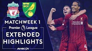 Liverpool v. Norwich City   PREMIER LEAGUE HIGHLIGHTS   8/9/19   NBC Sports
