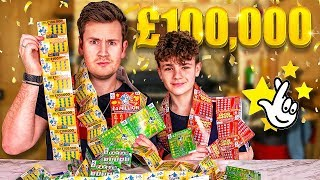 SCRATCH CARD LOTTERY PRANK ON 15 YEAR OLD BROTHER | $100,000 PRIZE