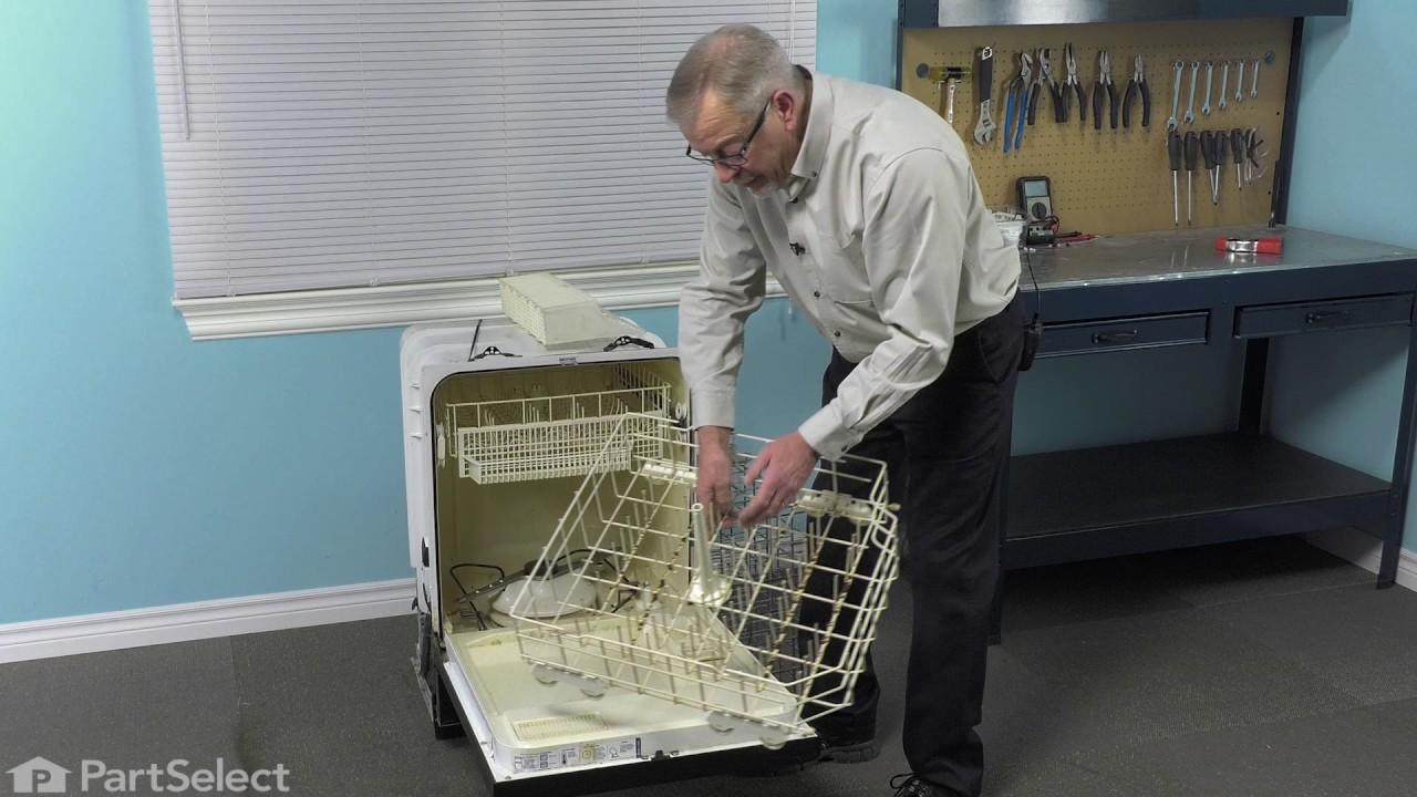 Replacing your Kenmore Dishwasher Lower Dishrack