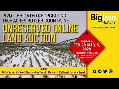 Land Auction 160+/- Acres Butler County, NE