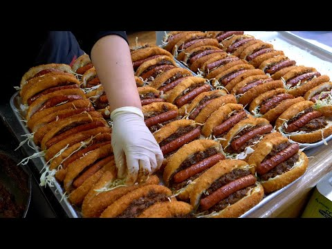 Fried hot dog croquette – Korean street food