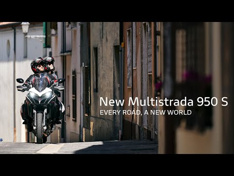 2021 Ducati Multistrada 950 S Spoked Wheel in Oakdale, New York - Video 1
