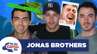 Nick Jonas Calls Out Joe And Kevin Over Spinach In His Teeth 😬 | FULL INTERVIEW | Capital