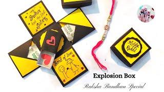 Explosion Box For Raksha Bandhan || Gift Box For Brother || Explosion Box Tutorial