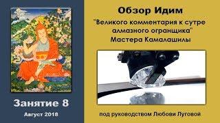 Ретрит в Бисерово 2018, занятие 08. Обзор курса Мастера Камалашилы, Любовь Луговая