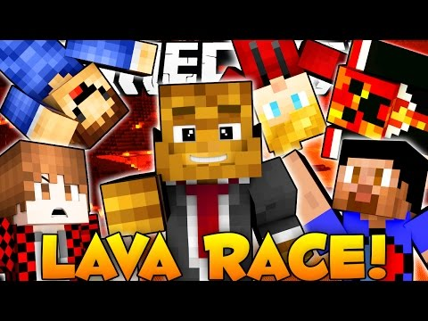 Minecraft 3vs3 LAVA RACE w/ The Pack | JeromeASF