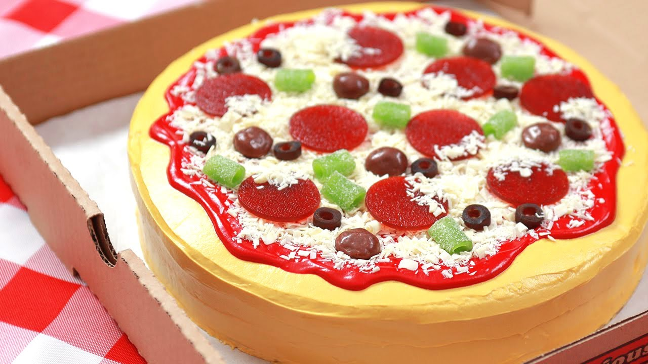 HOW TO MAKE A CAKE PIZZA - NERDY NUMMIES thumbnail