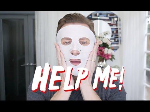 Facial mask na may pampaalsa para sa dry skin