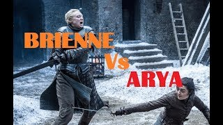 Arya Stark with needle Vs Brienne of Tarth - Game of Thrones