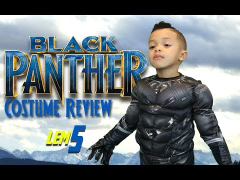 Black Panther Movie Gear Test & Toys Review for Kids Costume: Lem5