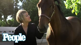 Kaley is interviewed by her horse