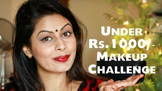 Image for video on Under Rs. 1000/- Makeup Challenge | Indian Festive Look | Kavya K by Face The Glam by Kavya