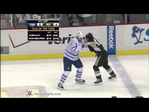 Arron Asham vs. Mike Komisarek