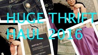 Huge Thrift Haul: Lululemon, Nike, JBrand etc!! 2016