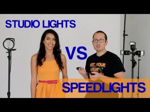Speedlights vs Studio Strobes