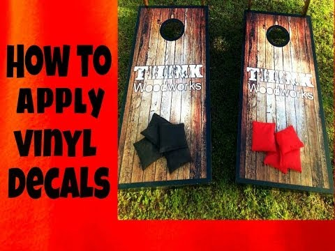 Corn Hole -  How to Apply Graphics