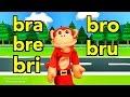 Sílabas bra bre bri bro bru - El Mono Sílabo - Canciones infantiles