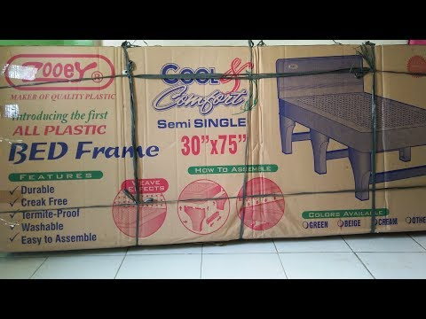 Unboxing & Review:  Zooey Plastic Bed Frame