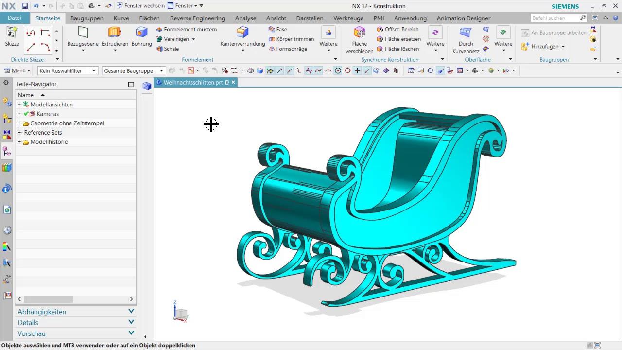 Vorschaubild: NX Tutorial: Convergent Modeling macht den Schlitten wieder fit