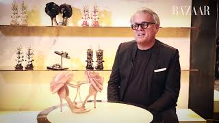 Famous Faces Episode 15: Giuseppe Zanotti On His Dhs416,000 Creation   Harpers Bazaar Arabia