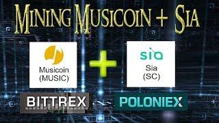 Mining Musicoin + Sia