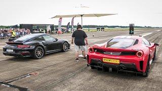 Ferrari 488 Pista vs Porsche 991.2 Turbo S | Audi R8 TwinTurbo | McLaren 720S | Huracan TwinTurbo