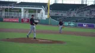Minnesota Twins pitcher Michael Cederoth throwing in Instructional League