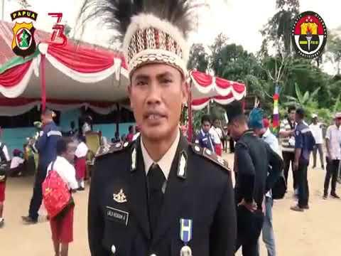 Binmas Noken Polri Rayakan Hut RI Ke 73 Bersama Siswa Dan Siswi SDN Mandiri Jaya Mimika
