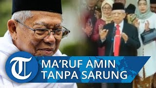 Hadiri Pelantikannya Jadi Wakil Presiden, Begini Penampilan Resmi Maruf Amin saat Tak Kenakan Sarung
