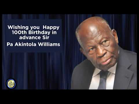 SPECIAL EDITION OF  PA AKINTOLA WILLIAMS