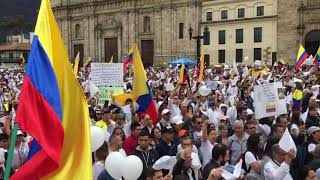 """Colombia's National Anthem during 'March for our heroes"""""""