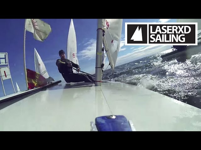 Laser Sailing - Racing Ride Along with Andrew Scrivan - Upwind Part 2