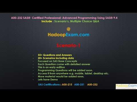 SAS A00-232 Certification Scenario-1 : Advanced Programming ...