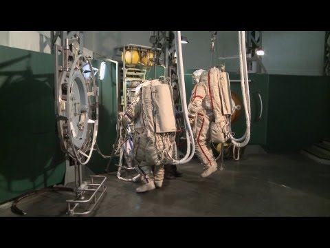 ESA Astronauts Training For ISS