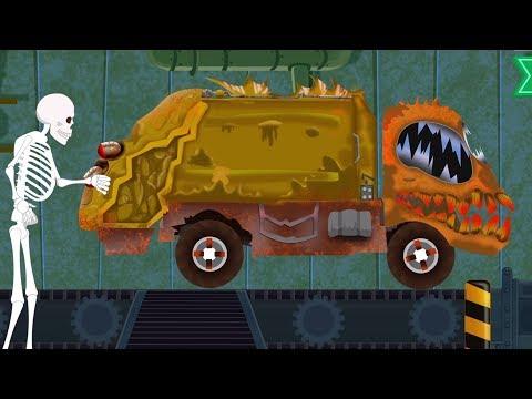 Truk Sampah yang   Pabrik Mainan   Kendaraan untuk anak   Scary Video   Garbage Truck   Toy Factory