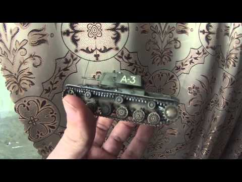 Сборка и покраска PST 72012 Тяжелый танк КВ-1 1/72